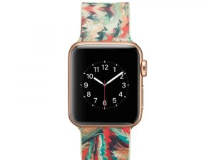 Silicone klockrem för Apple Watch 4 40mm, 3/2/1 38mm - Colorful Geometric Patter