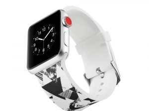 Silicone klockrem för Apple Watch 4 44mm, 3/2/1 42mm - Triangle