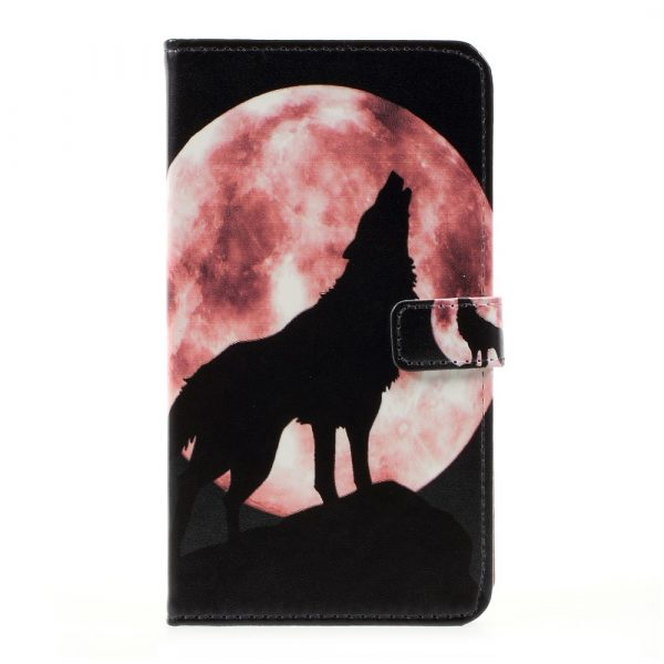 LG G6 Plånboksfodral Wolf Howling at the Moon