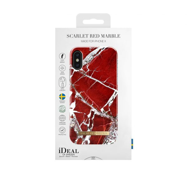iDeal Of Sweden iPhonex / XS skal - Red Marble