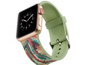 Silicone klockrem för Apple Watch 4 44mm, 3/2/1 42mm - Colorful Geometric