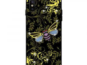 NXE iPhone X / XS TPU-Skal - Yellow Bee