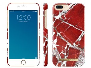 iDeal Of Sweden iPhone 6/6S/7/8 Plus skal - SCARLET RED MARBLE