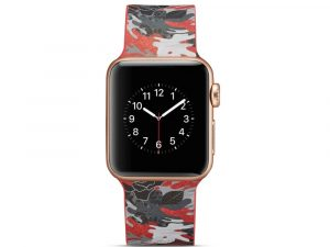 Silicone klockrem för Apple Watch 4 40mm, 3/2/1 38mm - Cartoon Pattern