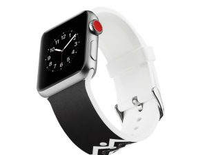Silicone klockrem för Apple Watch 4 44mm, 3/2/1 42mm - Twill