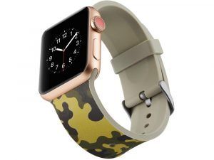 Silicone klockrem för Apple Watch 4 44mm, 3/2/1 42mm - Army Green Camouflage