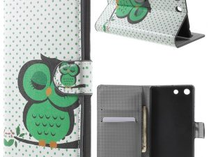 Sony Xperia M5 Plånboksfodral Green Owl on the Branch