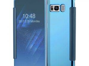 Samsung Galaxy S8 Plated Mirror Smart View Skal - LjusBlå