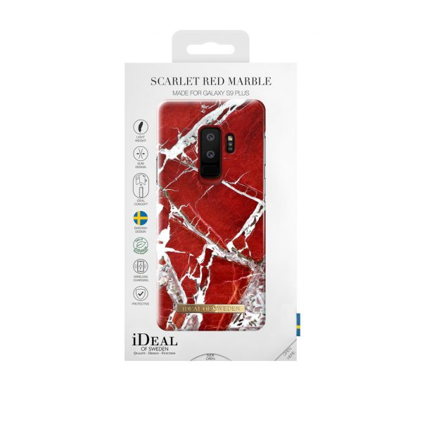 iDeal Of Sweden Samsung Galaxy S9 Plus - SCARLET RED MARBLE