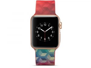 Silicone klockrem för Apple Watch 4 40mm, 3/2/1 38mm - Cube Pattern