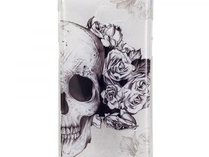 Samsung Galaxy A3 (2017) TPU IMD Skal - Skull and Flowers