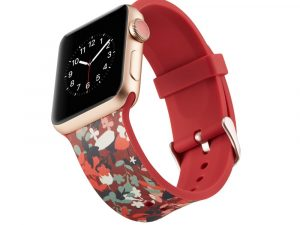 Silicone klockrem för Apple Watch 4 44mm, 3/2/1 42mm - Vivid