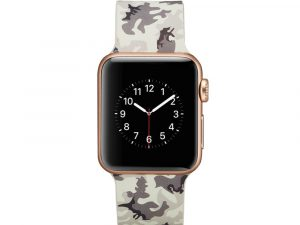 Silicone klockrem för Apple Watch 4 40mm, 3/2/1 38mm - Grey Camouflage