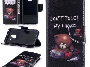 Samsung Galaxy S9 Plånboksfodral - Bear Don't touch my phone