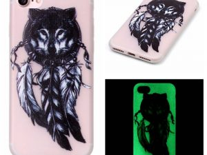 "iPhone 7 4,7"" Skal Glow in the dark - Wolf Dream Catcher"