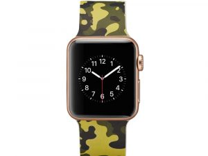 Silicone klockrem för Apple Watch 4 40mm, 3/2/1 38mm - Army Green Camouflage