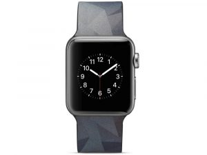 Silicone klockrem för Apple Watch 4 40mm, 3/2/1 38mm - Grey Triangle