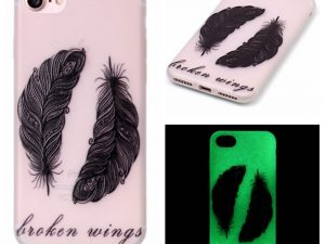 "iPhone 7 4,7"" Skal Glow in the dark - Tribal Feathers"