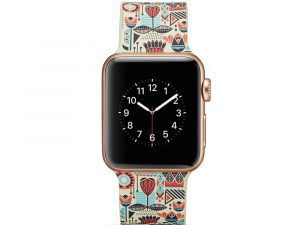 Silicone klockrem för Apple Watch 4 40mm, 3/2/1 38mm - Colorful Design