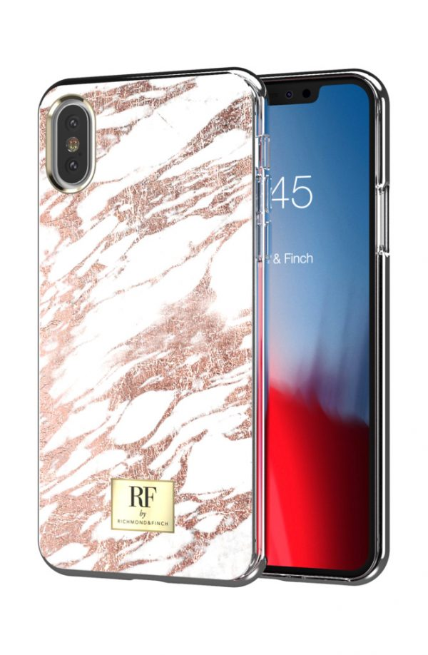 RF by Richmond & Finch skal till IPhone XS Max - Rose Gold Marble