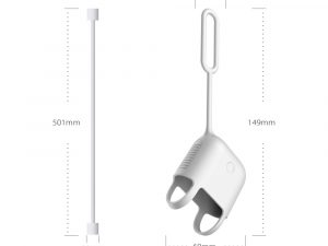 DAITE Apple Airpods skydd fodral med Anti-lost Wire Rope