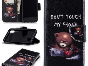 iPhone XR Plånboksfodral - Bear And Its Warnings