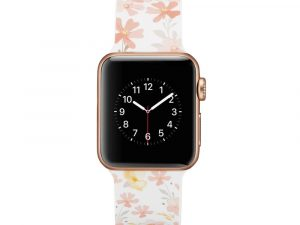 Silicone klockrem för Apple Watch 4 40mm, 3/2/1 38mm - Flowers