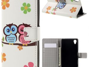 Sony Xperia X Plånboksfodral Owl Lover and Flowers