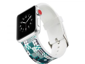 Silicone klockrem för Apple Watch 4 44mm, 3/2/1 42mm - Geometric
