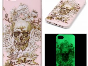 "iPhone 7 4,7"" Skal Glow in the dark - Day of the Dead"