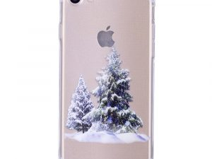 iPhone 7 / iPhone 8 TPU-Skal Julmotiv - Christmas Trees