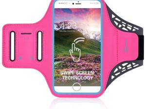 BDD-061Z Sportarmband till iPhone 7 Plus / Galaxy S7 Edge - Rose