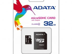 ADATA Micro SDHC, 32GB, Class 4 med SD adapter