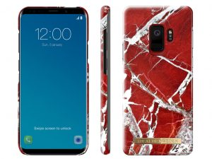 iDeal Of Sweden Samsung Galaxy S9 - SCARLET RED MARBLE