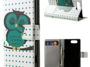 Sony Xperia Z3 compact Green Owl Plånboksfodral