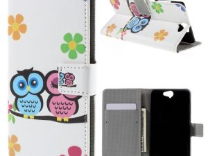 HTC One A9 Plånboksfodral Adorable Owls and Flowers
