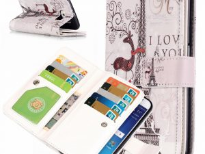 Samsung Galaxy S6 Fodral 9 Kortplatser Eiffel Tower and Deer