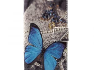 Huawei Honor 9 Plånbokfodral - Blue Butterfly