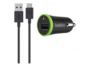 Belkin Car Charger 2.1A With USB-C To Usb-A Cable 1,8m