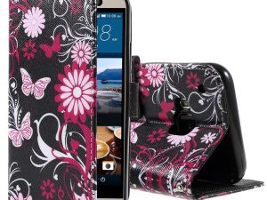 HTC One M9 Flower and Butterfly Plånboksfodral