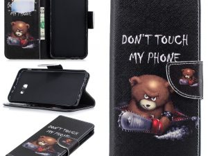 Samsung Galaxy J4+ Plånboksfodral - Bear Don't touch my phone