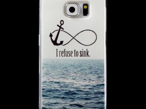Samsung Galaxy S6 TPU skal Anchor and Quote