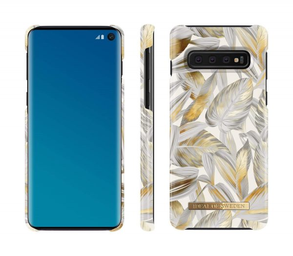 iDeal Of Sweden Samsung Galaxy S10 - Platinum Leaves