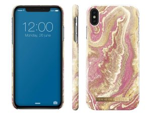 iDeal Of Sweden iPhone XS Max - Golden Blush Marble