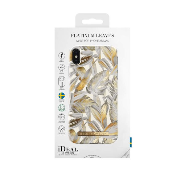 iDeal Of Sweden iPhone XS Max - Platinum Leaves